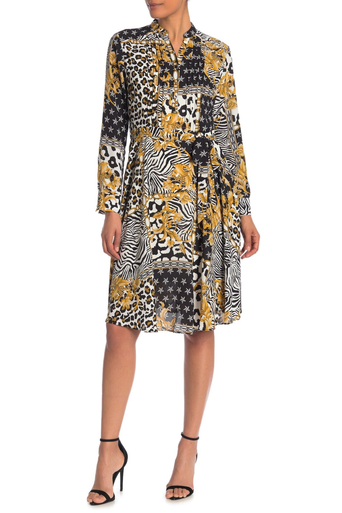 Image of NANETTE nanette lepore Printed Henley Shirt Dress