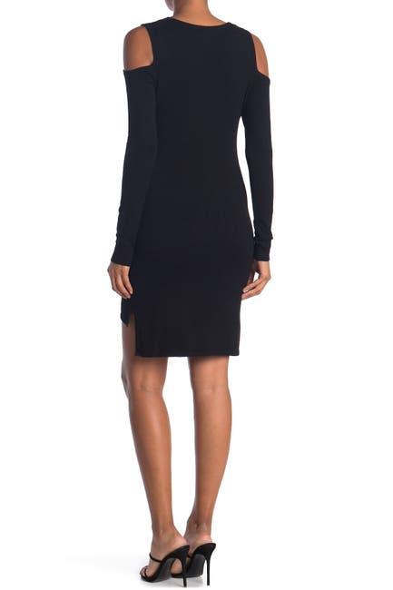 Image of Love Stitch V-Neck Bishop Sleeve Knit Mini Dress