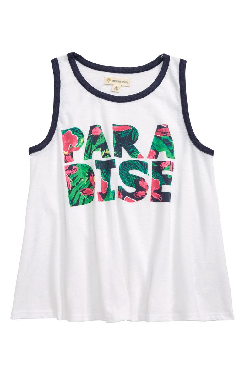 TUCKER + TATE Ringer Graphic Tank Top, Main, color, 100