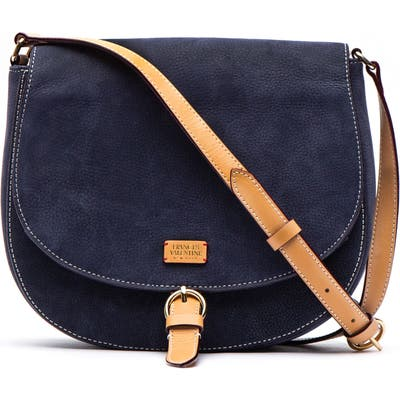 Frances Valentine Nubuck Crossbody Bag - Blue