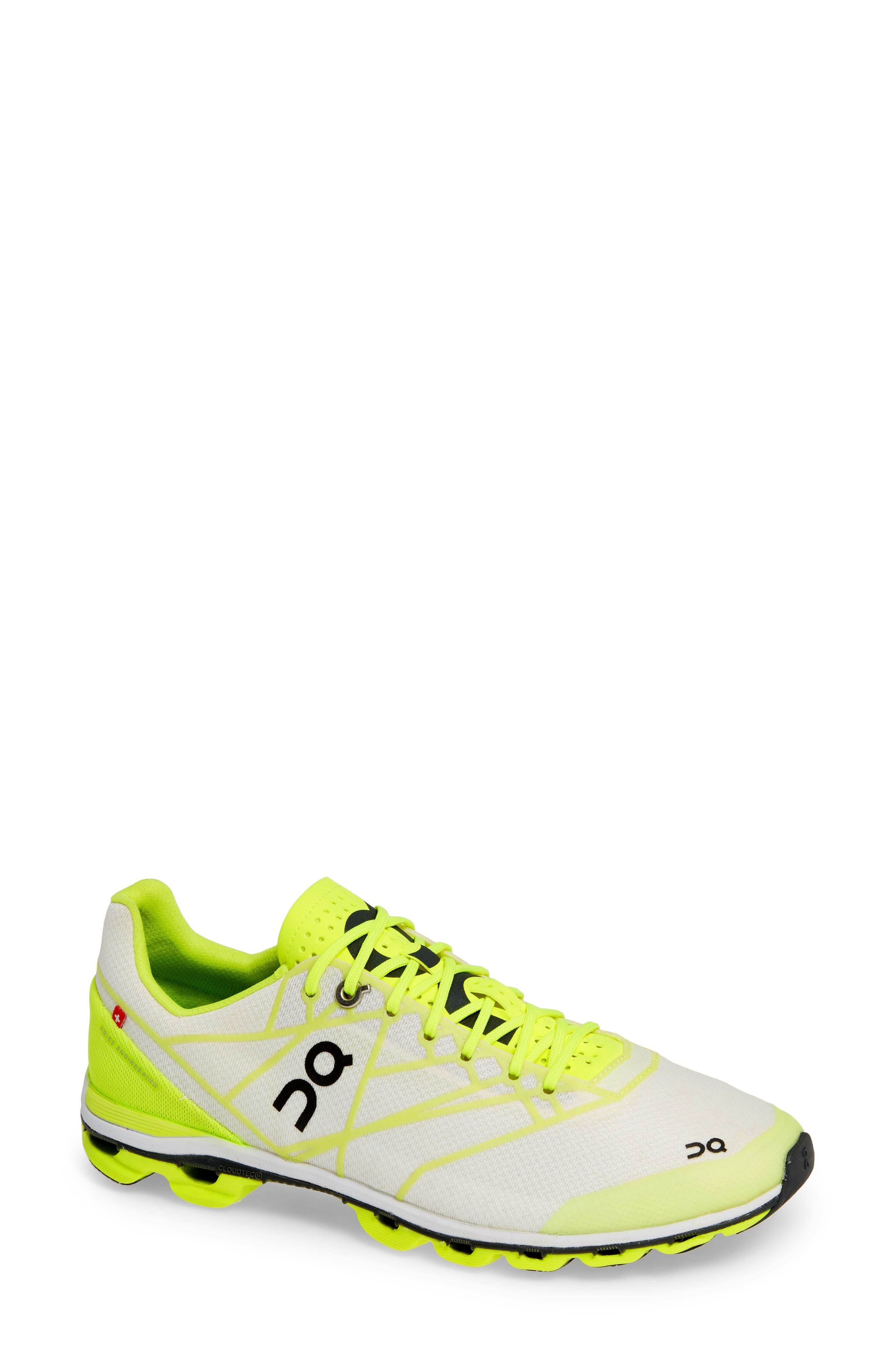 ,                             Cloudflash Racing Shoe,                             Main thumbnail 1, color,                             NEON/ WHITE