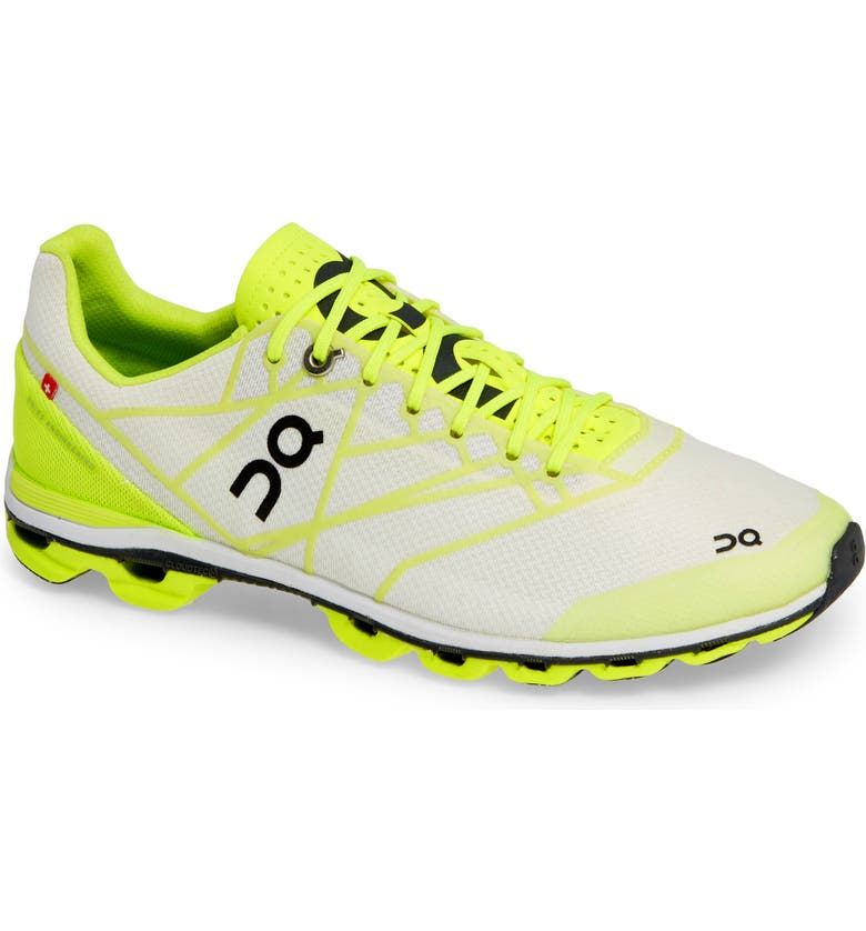 ON Cloudflash Racing Shoe, Main, color, NEON/ WHITE