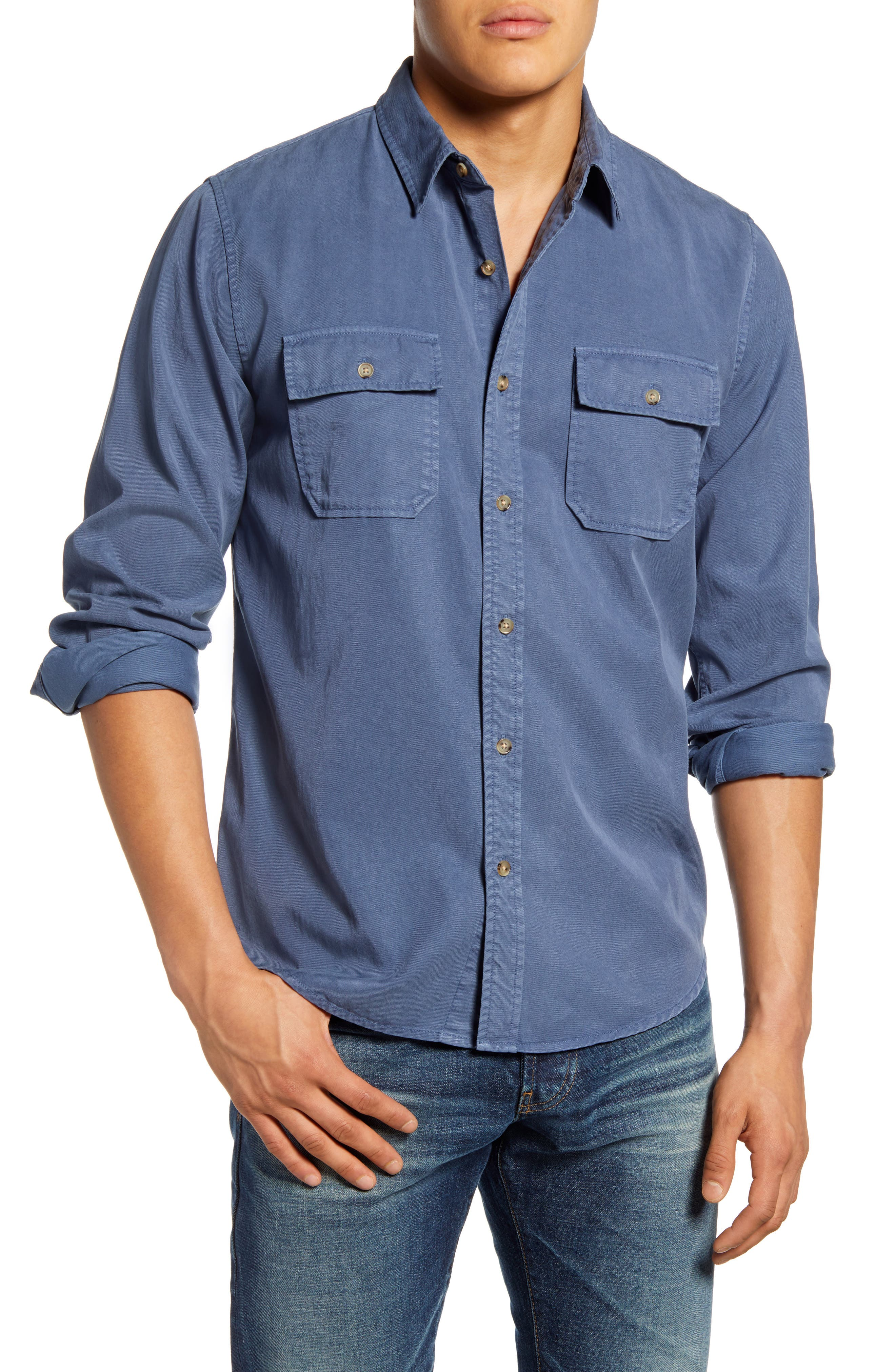 Frame DOUBLE POCKET CLASSIC FIT BUTTON DOWN SHIRT