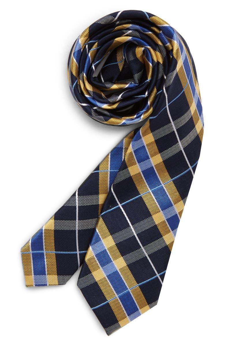 NORDSTROM Kade Stripe Silk Tie, Main, color, RED
