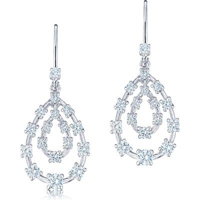 Kwiat Starry Night Diamond Pear Drop Earrings