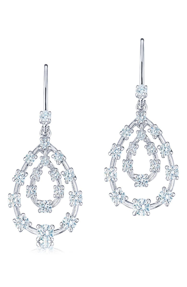 KWIAT Starry Night Diamond Pear Drop Earrings, Main, color, DIAMOND/ GOLD