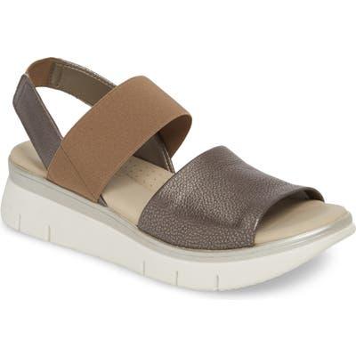 The Flexx Cushy Sandal, Metallic