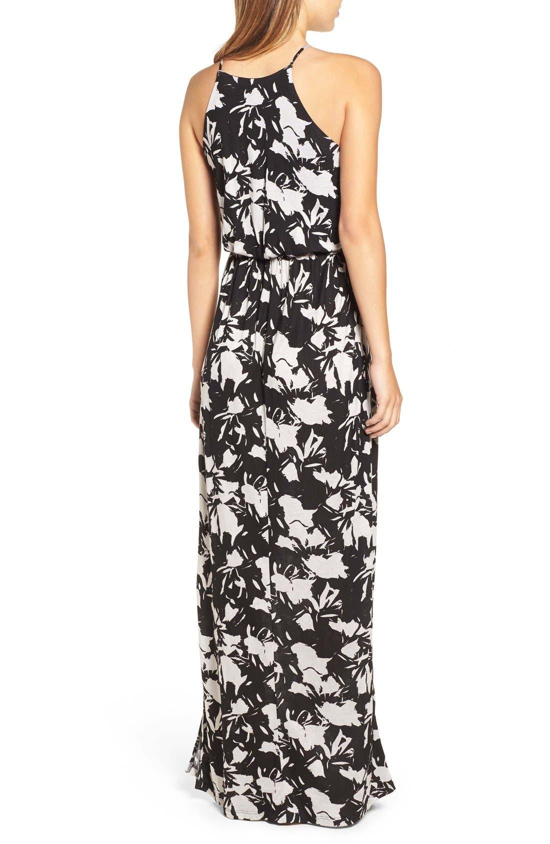 ,                             High Neck Maxi Dress,                             Alternate thumbnail 61, color,                             250