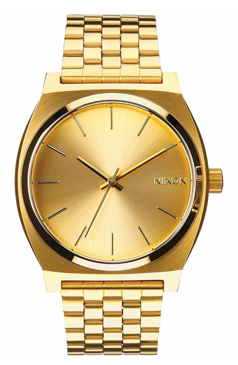 NIXON The Time Teller Watch, 37mm, Main, color, GOLD