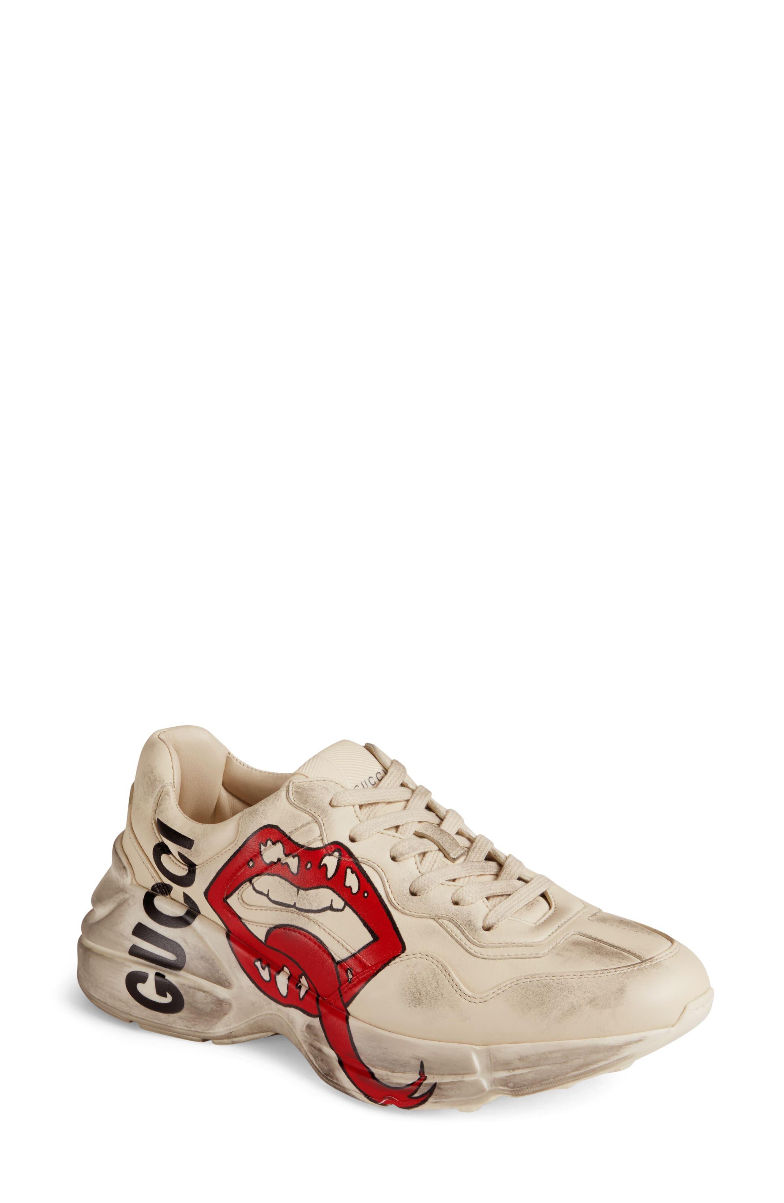 Gucci Rhyton Sneaker, Ivory
