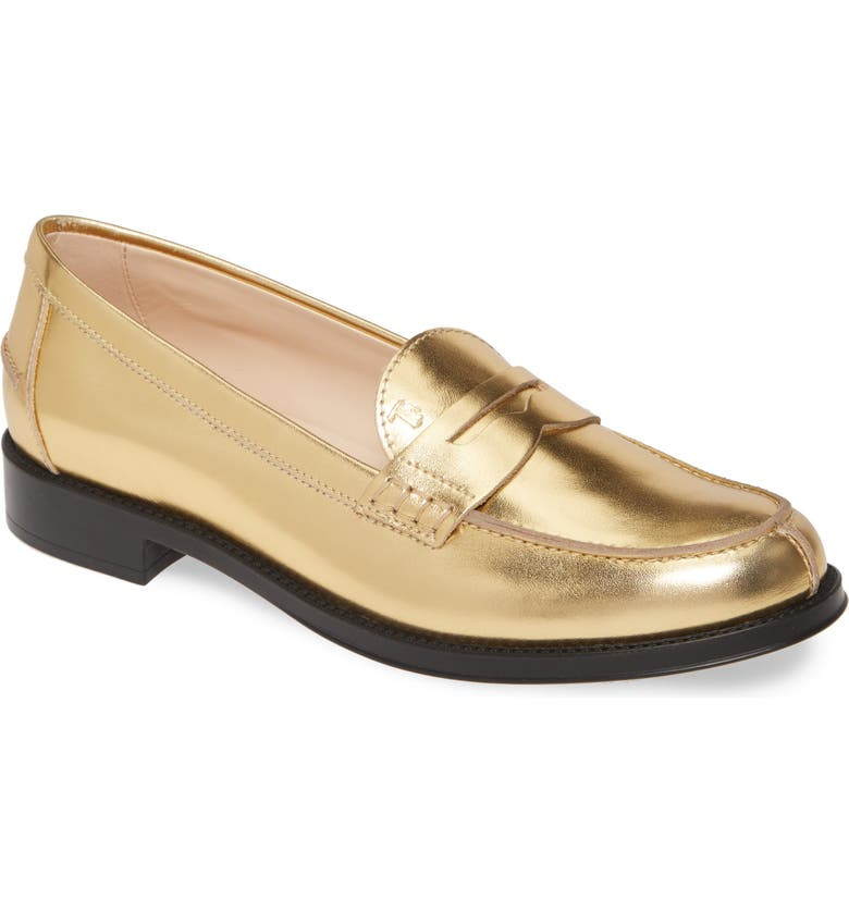 TOD'S Penny Loafer, Main, color, GOLD