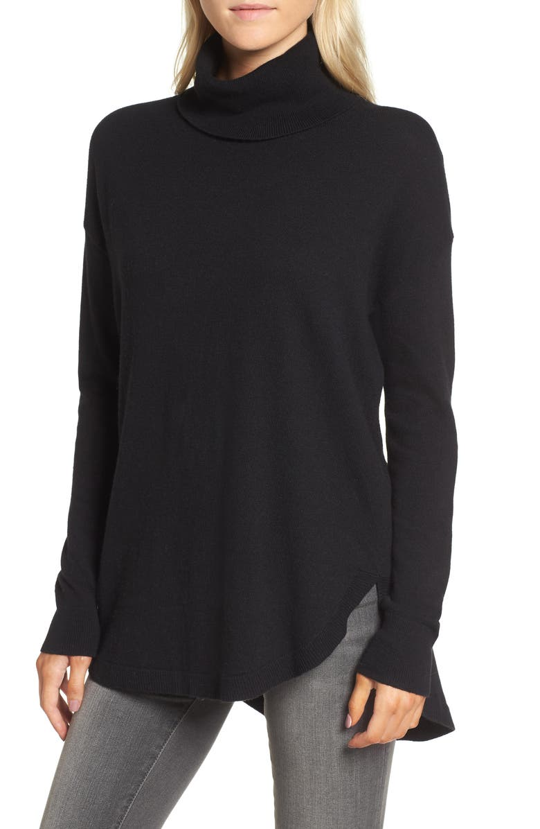 CHELSEA28 Turtleneck Sweater, Main, color, 001