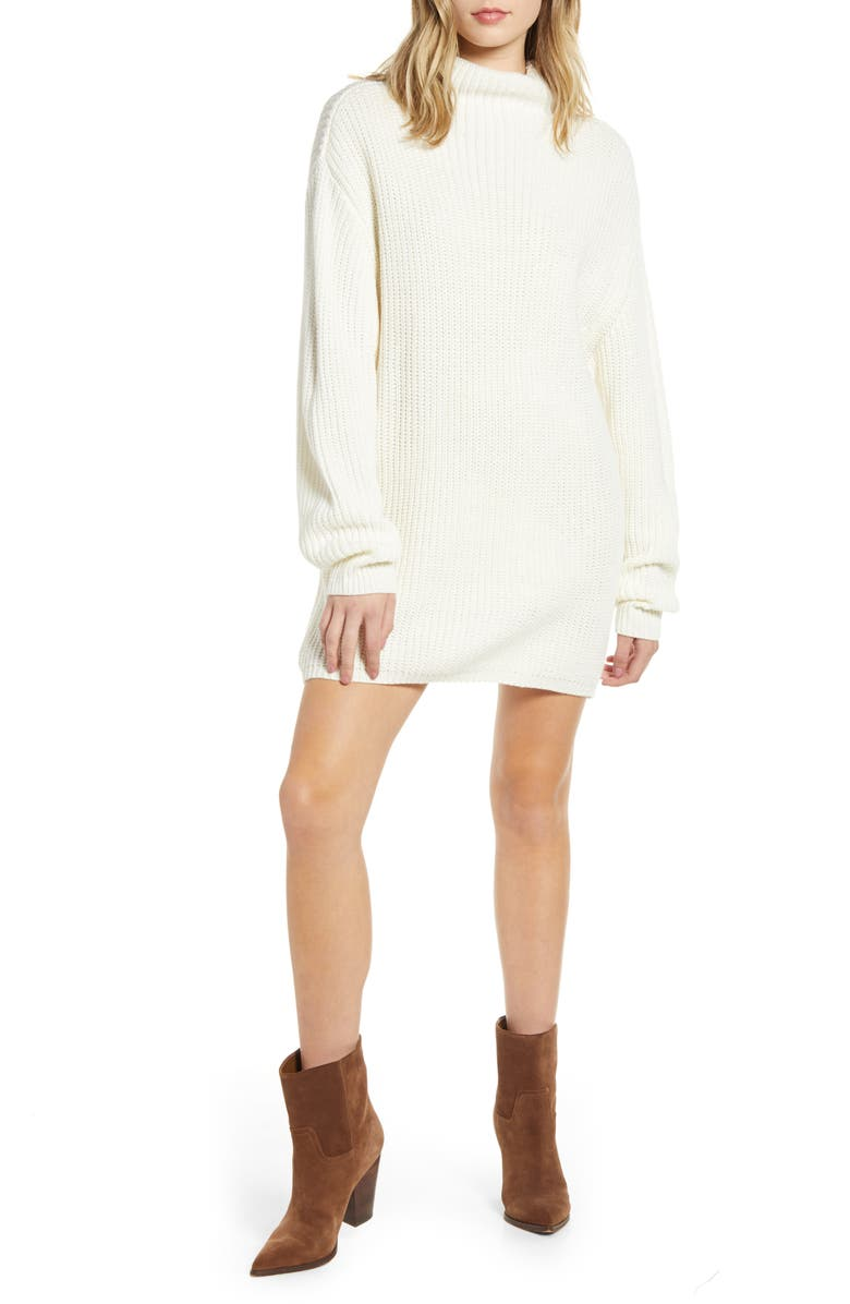 BISHOP + YOUNG Riley Long Sleeve Sweater Dress, Main, color, 900