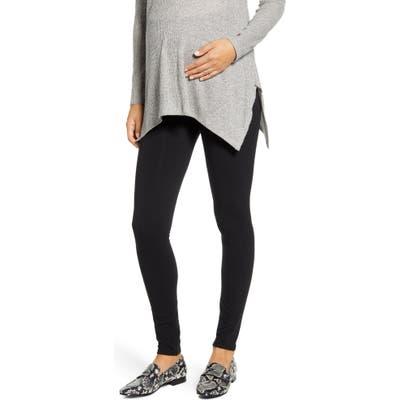 Maternal America Belly Support Maternity Leggings, Black