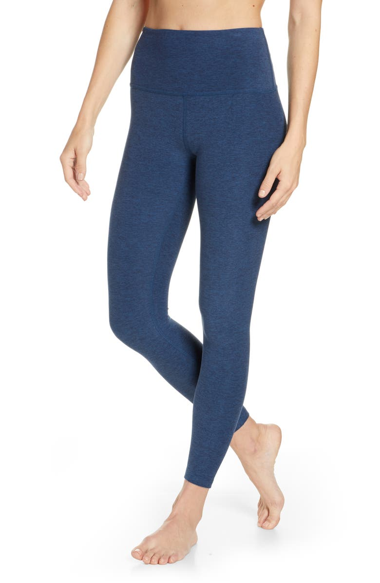 BEYOND YOGA Midi High Waist Leggings, Main, color, INSIGNIA NAVY