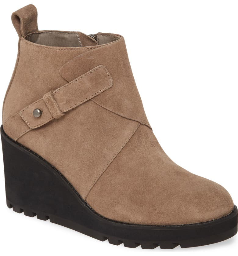 EILEEN FISHER Tinker Wedge Bootie, Main, color, MONGOOSE SUEDE
