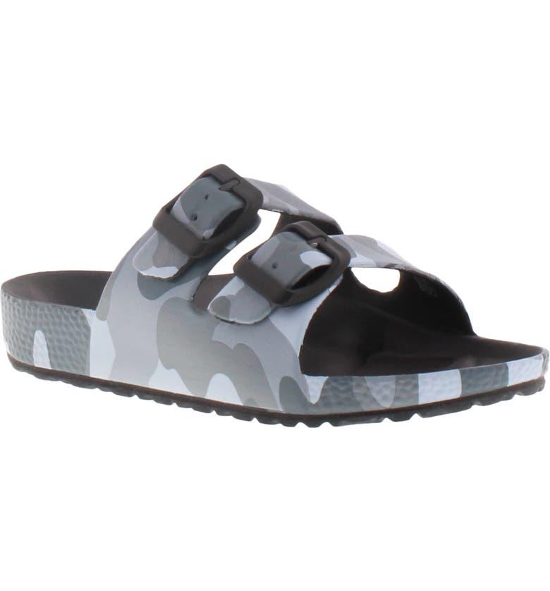 REACTION KENNETH COLE Aqua Camo Slide Sandal, Main, color, CAMO