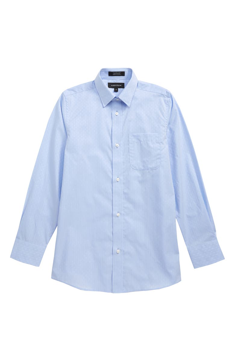 NORDSTROM Dobby Dress Shirt, Main, color, BLUE HAZE