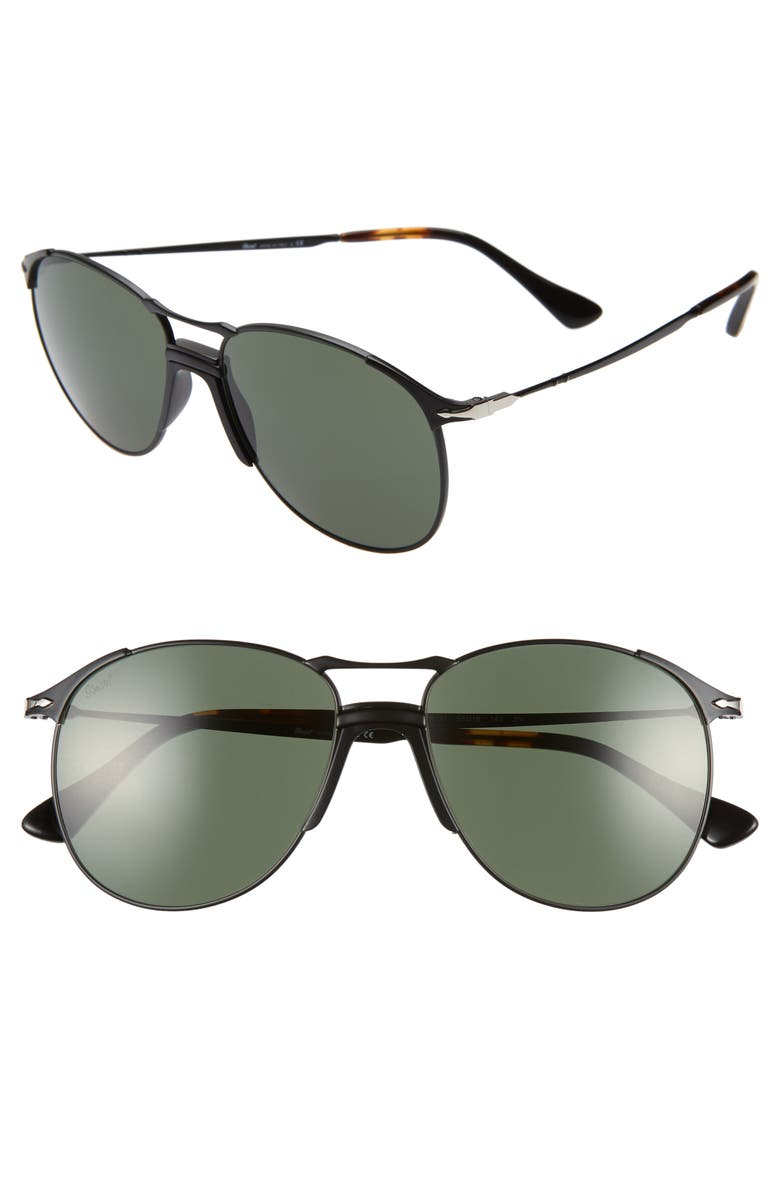 PERSOL 55mm Pilot Sunglasses, Main, color, 001