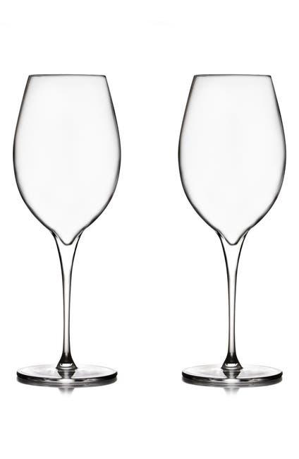 Image of Nambe Vie Set of 2 Pinot Grigio Glasses