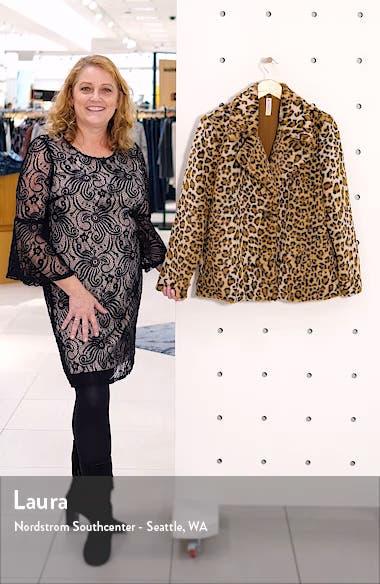 Leopard Faux Fur Jacket, sales video thumbnail