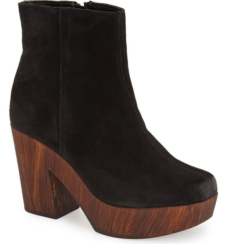 TOPSHOP 'Hitch' Platform Chelsea Boot, Main, color, 001