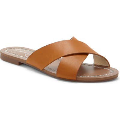 Jessica Simpson Elaney Slide Sandal, Brown