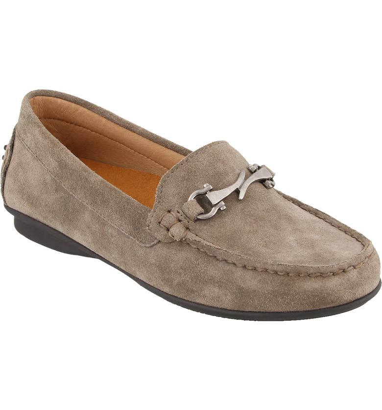 TAOS Bit Moccasin Loafer, Main, color, GREY SUEDE