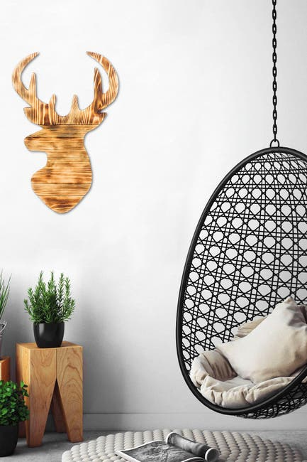 Image of WALLITY Deer 2 - Walnut Decorative Wooden Wall Accessory