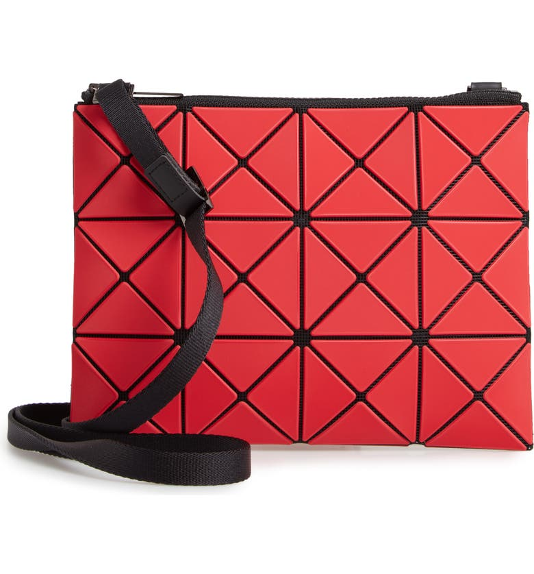 BAO BAO ISSEY MIYAKE Lucent Frost Crossbody Bag, Main, color, RED