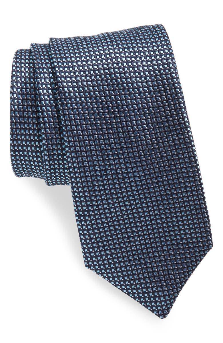 BOSS Geometric Tie, Main, color, BLUE