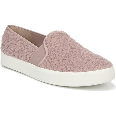 Vince Blair 5 Faux Shearling Slip-On Sneaker- Pink