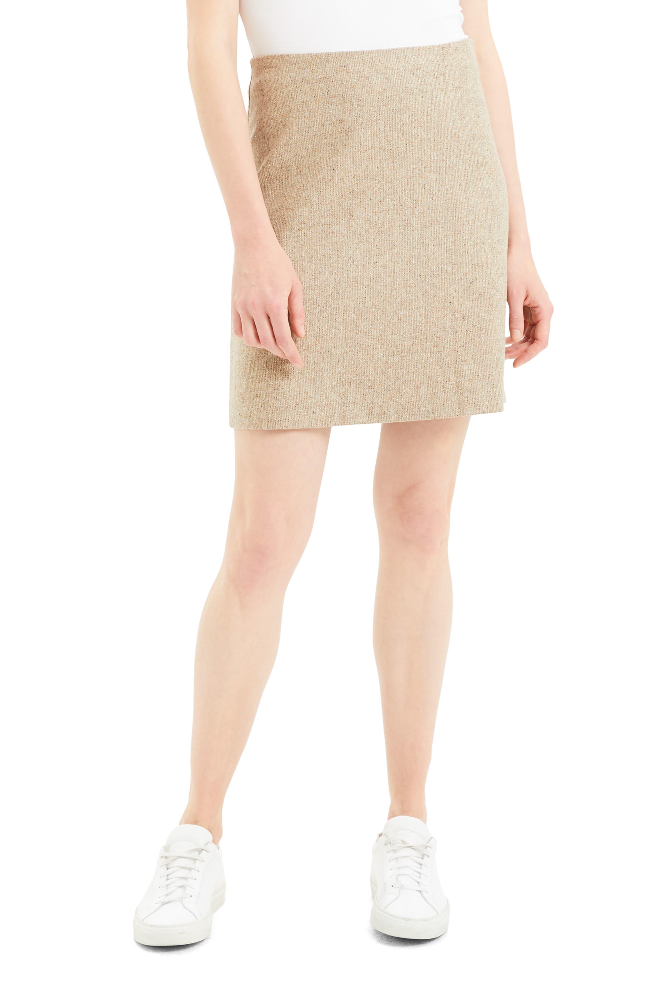 Image of Theory Wool Blend Miniskirt
