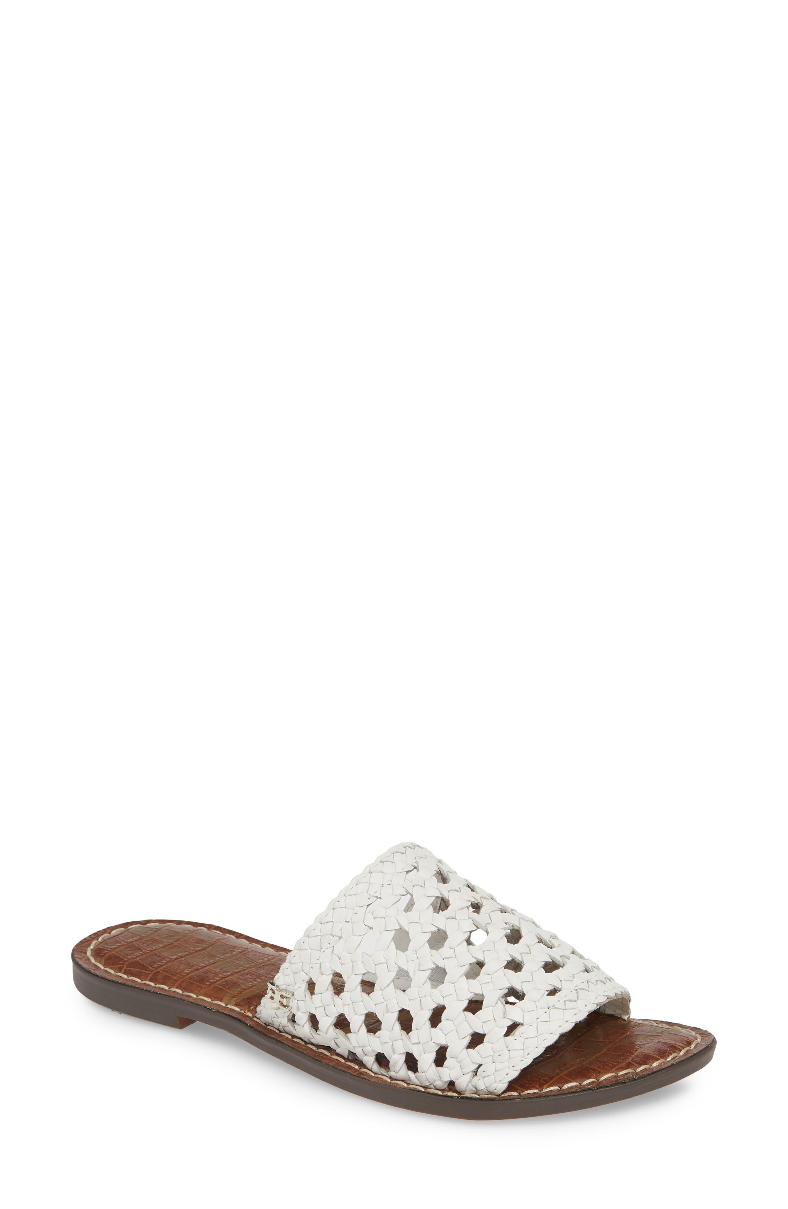 Sam Edelman Genovia Woven Slide Sandal, White