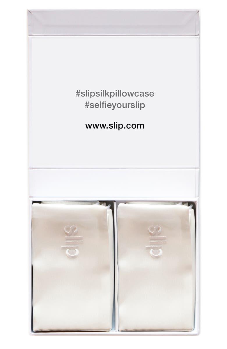 SLIP Pure Silk Queen Pillowcase Duo, Main, color, NO COLOR