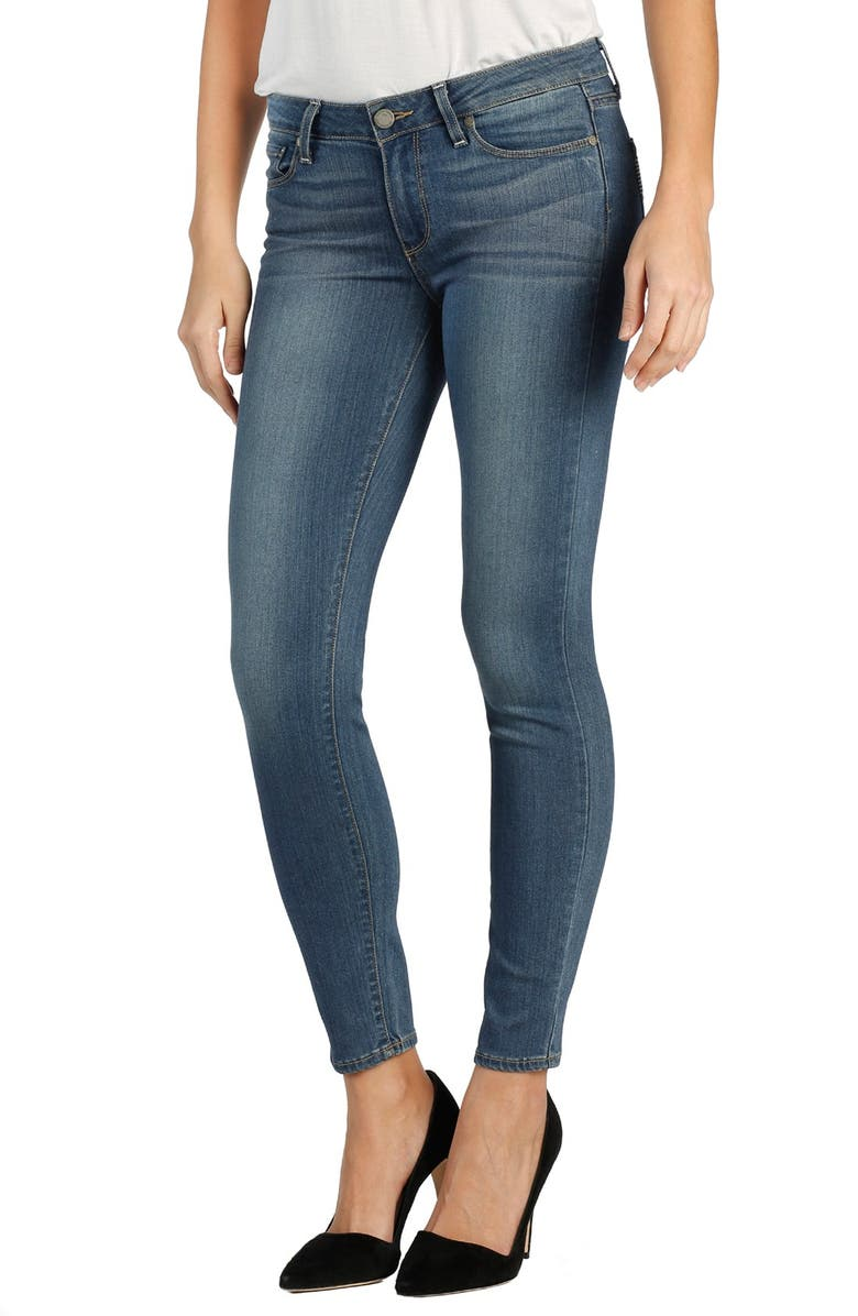 PAIGE Transcend - Verdugo Ankle Skinny Jeans, Main, color, 400
