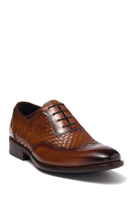 Image of MAISON FORTE Lisbon Woven Leather Oxford