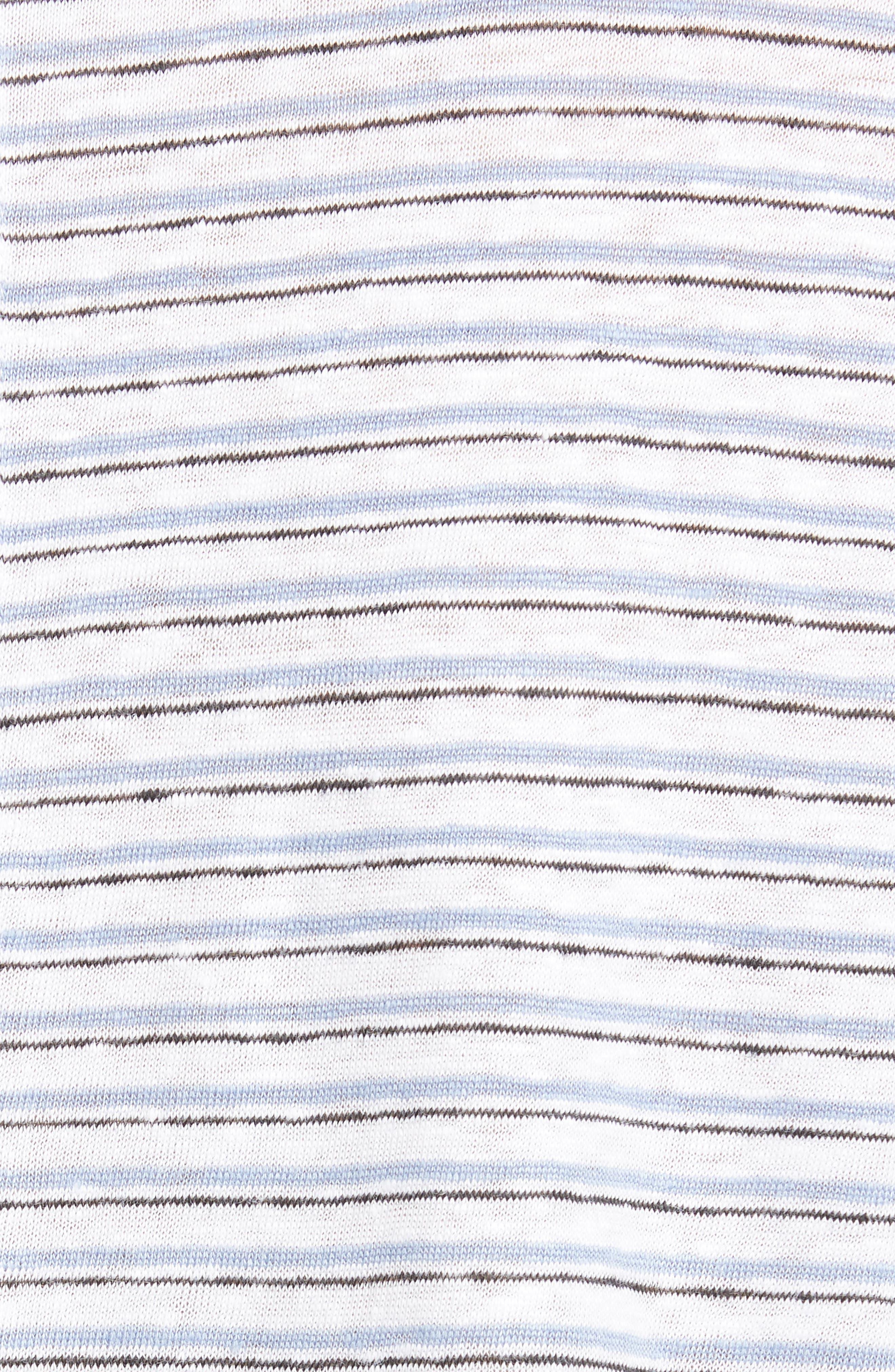 Frame Tops Classic Stripe Linen Crew Tee