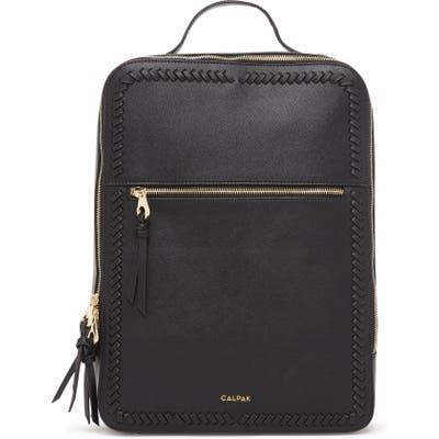 Calpak Kaya Faux Leather Laptop Backpack - Black