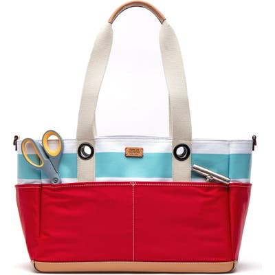 Frances Valentine Gibson Beach Canvas Gardening Bag - Red