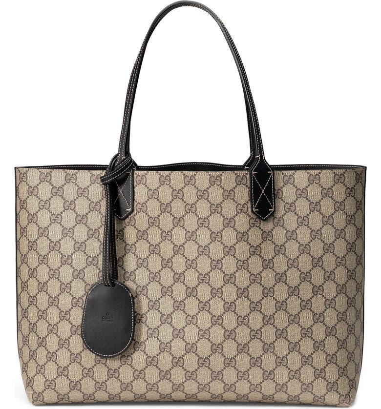 GUCCI Medium Turnaround Reversible Leather Tote, Main, color, 923