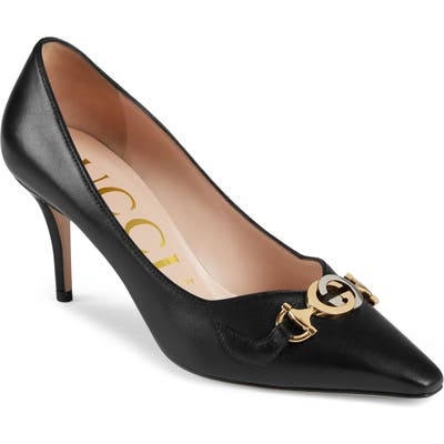 Gucci Zumi Square Toe Pump - Black