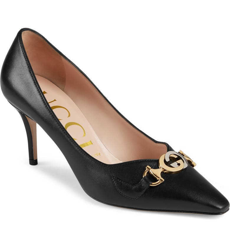 GUCCI Zumi Square Toe Pump, Main, color, BLACK