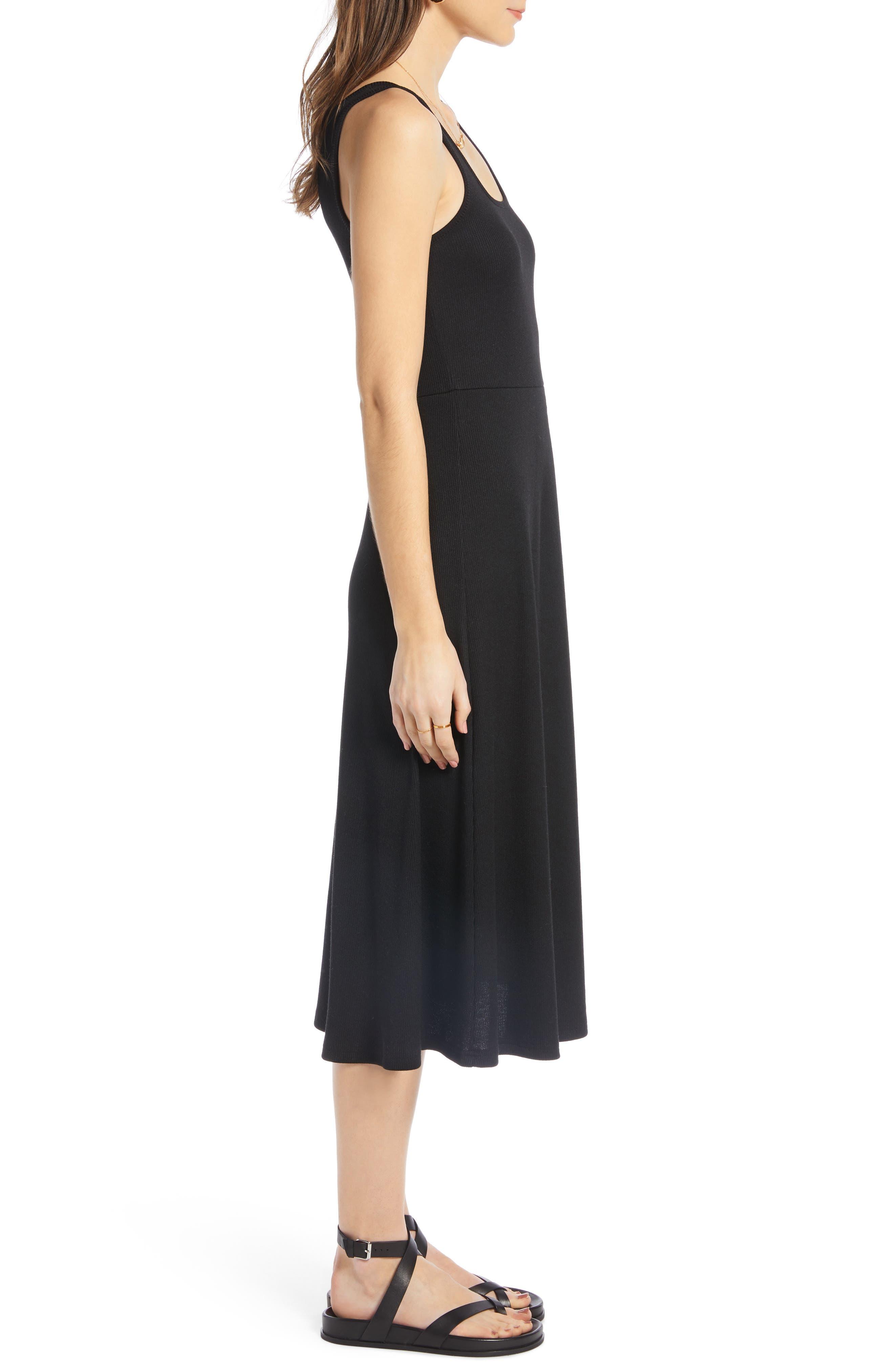 ,                             A-Line Tank Dress,                             Alternate thumbnail 4, color,                             BLACK