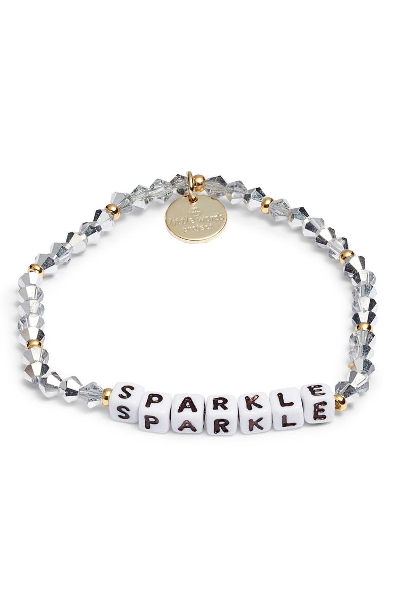 LITTLE WORDS PROJECT Sparkle Bracelet, Main, color, 100