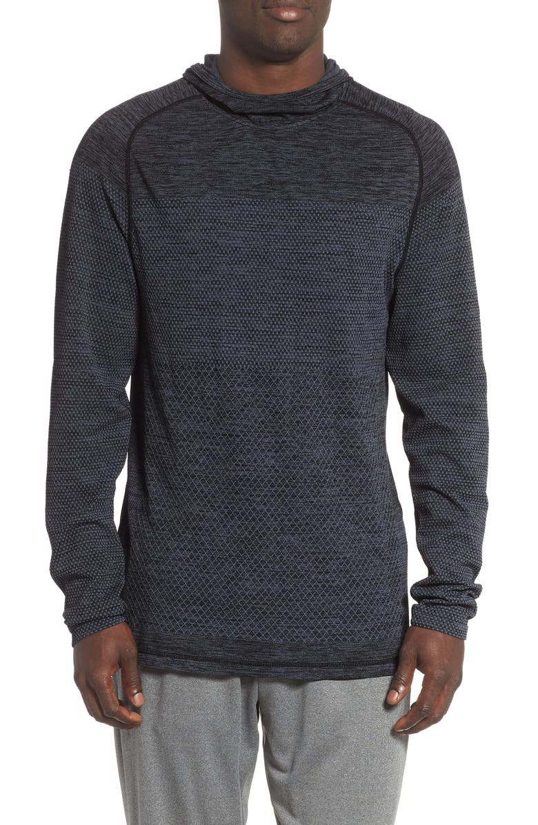 ZELLA Seamless Performance Pullover Hoodie, Main, color, 001