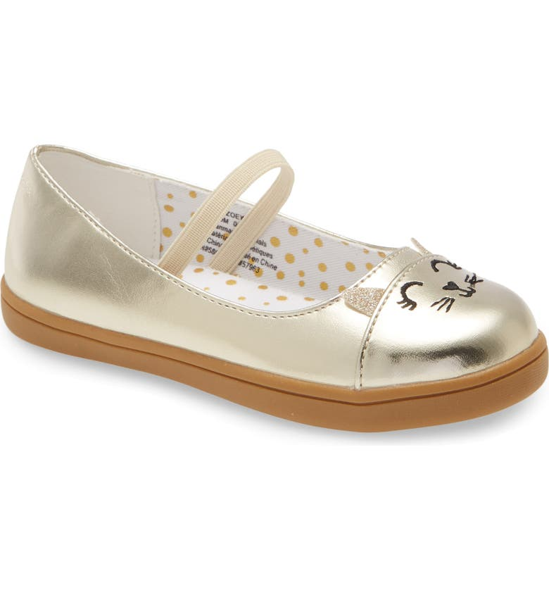 TUCKER + TATE Critter Glitter Mary Jane, Main, color, GOLD FAUX LEATHER
