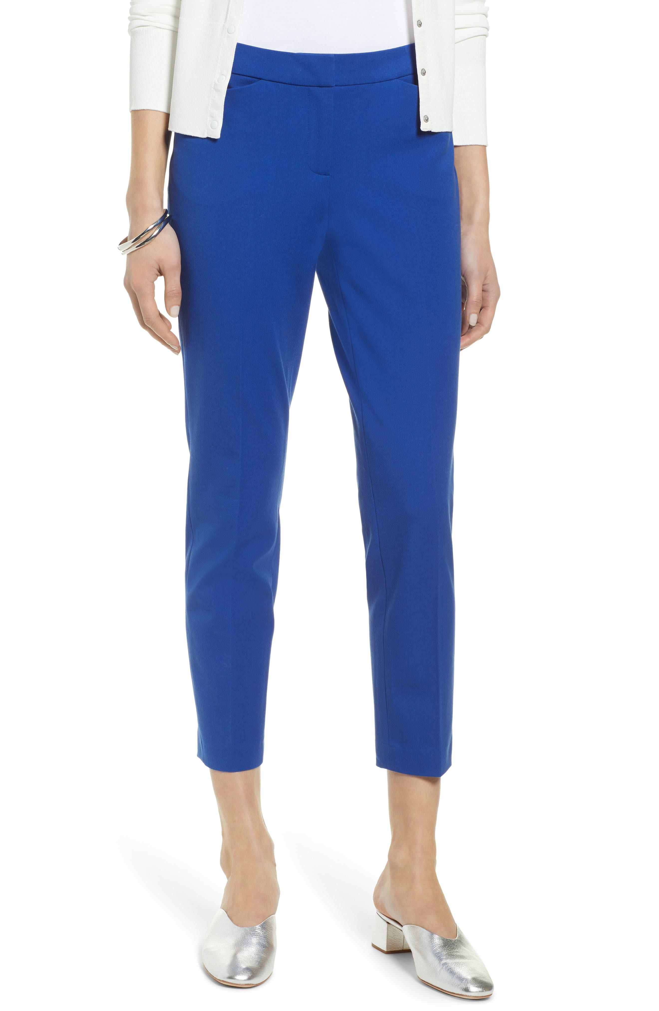 HalogenR Petite Women's Halogen Ankle Pants,  16P - Blue