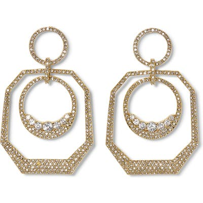 Vince Camuto Pave Crystal Orbital Hoop Earrings