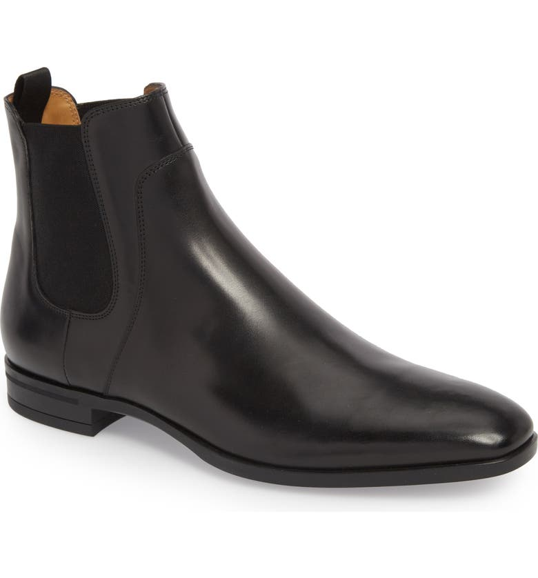 BOSS Portland Mid Chelsea Boot, Main, color, BLACK LEATHER